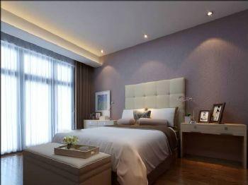126平现代三居大户型效果图现代卧室装修图片