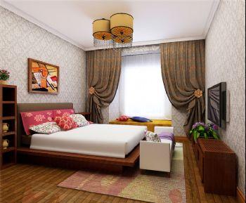 80平东南亚装修效果图欣赏东南亚卧室装修图片