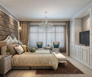 103平简欧复式大户型装修效果图简约卧室装修图片