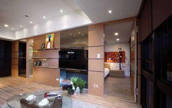 67平简约原木色装修效果图简约客厅装修图片