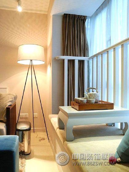 榻榻米床精巧设计-阳台装修效果图-八六(中国)68平loft装修设计图图片