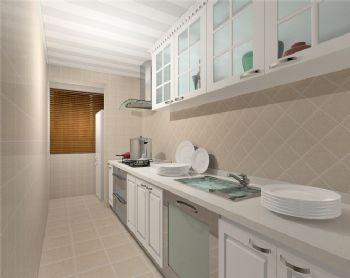 82平欧式两居装修效果图-厨房装修效果图-八六(中国)