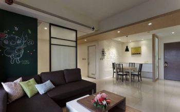 100平简约风案例演绎都市快节奏的生活简约客厅装修图片