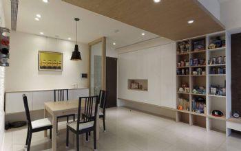 100平简约风案例演绎都市快节奏的生活简约餐厅装修图片
