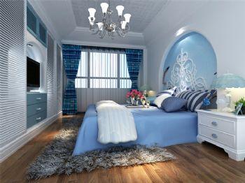 140平地中海风装修案例欣赏地中海卧室装修图片