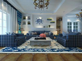 140平地中海风装修案例欣赏地中海客厅装修图片