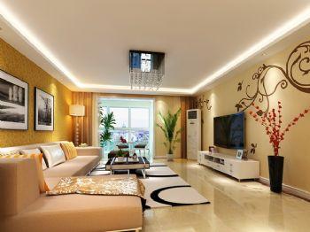 85平现代风中户型装修效果图现代客厅装修图片