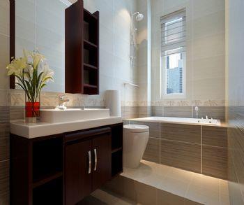 85平现代风中户型装修效果图现代卫生间装修图片