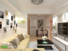 澳然天成66平现代风格两居室现代客厅装修图片
