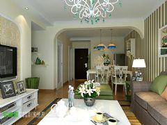 金浩仁和天地86平现代风格两居室现代客厅装修图片