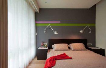 84平简约两居风格效果图欣赏简约卧室装修图片
