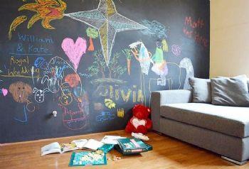 客厅涂鸦黑板墙创意设计欣赏