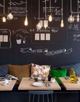 客厅涂鸦黑板墙创意设计欣赏现代客厅装修图片