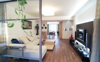 83平简约婚房装修案例欣赏简约客厅装修图片