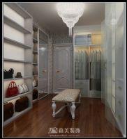 莱茵湖畔C4栋02户型-四居室-135㎡-简欧风格效果图欧式客厅装修图片