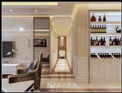 莱茵湖畔C4栋02户型-四居室-135㎡-简欧风格效果图欧式过道装修图片