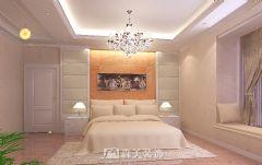 城市春天三居室120㎡简欧风格效果图欧式卧室装修图片