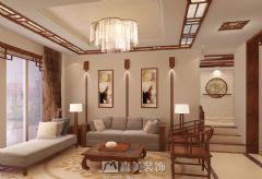 嘉和城高迪山别墅340㎡中式风格效果图中式客厅装修图片