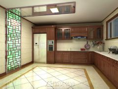 嘉和城高迪山别墅340㎡中式风格效果图中式厨房装修图片