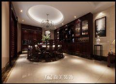 广西大学老师中式风格雅居中式餐厅装修图片