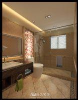 广西大学老师中式风格雅居中式卫生间装修图片