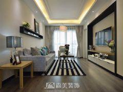 瀚林美筑-三居室-126㎡-都市简约风格实景图
