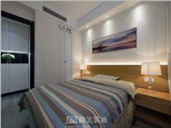 瀚林美筑-三居室-126㎡-都市简约风格实景图现代卧室装修图片