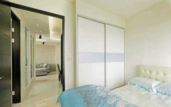 110平现代风小清新装修图片现代卧室装修图片