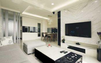 110平现代风小清新装修图片现代客厅装修图片
