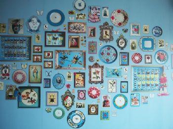 照片墙造型动人创新设计客厅现代客厅装修图片