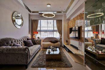 82平欧式两居装修效果图欧式客厅装修图片