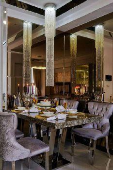 82平欧式两居装修效果图欧式餐厅装修图片