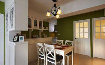 62平田园两居让波点控与条纹迷的完美融合田园餐厅装修图片