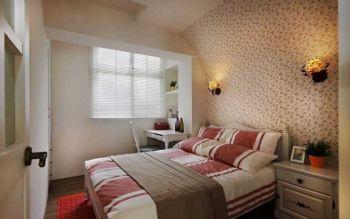 62平田园两居让波点控与条纹迷的完美融合田园卧室装修图片