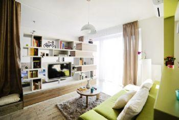 客厅电视墙收纳柜创意设计方案现代客厅装修图片
