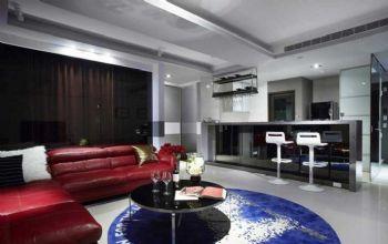 90平现代风卫生间格局布置案例现代客厅装修图片
