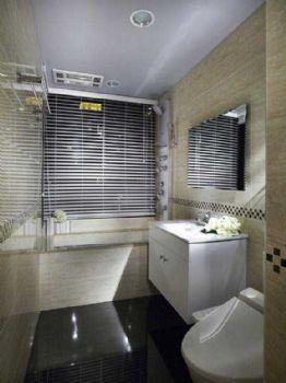 90平现代风卫生间格局布置案例现代卫生间装修图片