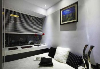 90平现代风卫生间格局布置案例现代卧室装修图片