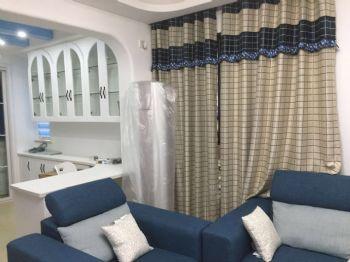 78平地中海风装修案例欣赏地中海客厅装修图片