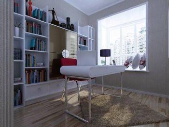 飘窗温馨实用设计案例书房装修图片