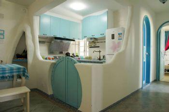 85平地中海温馨家设计图地中海厨房装修图片