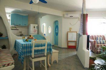 85平地中海温馨家设计图地中海餐厅装修图片