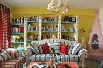 85平地中海温馨家设计图地中海客厅装修图片