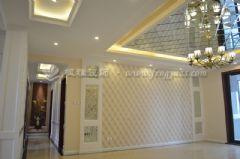 世茂运河城160平简欧风格完工图欧式客厅装修图片