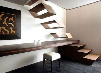 极具创意的楼梯设计案例现代书房装修图片