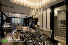 时尚典雅简欧风金浩仁和天地135平三居室欧式客厅装修图片