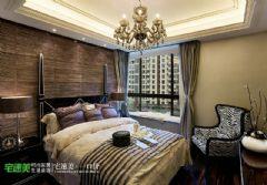 时尚典雅简欧风金浩仁和天地135平三居室欧式卧室装修图片