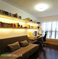 后现代风格滨江世贸花园90平两居室现代书房装修图片