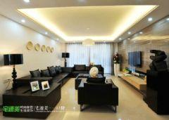 后现代风格滨江世贸花园90平两居室现代客厅装修图片