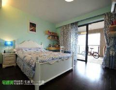 后现代风格滨江世贸花园90平两居室现代卧室装修图片